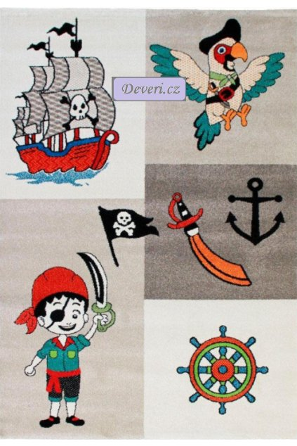 Dětský koberec pirát béžový různé rozměry (1)