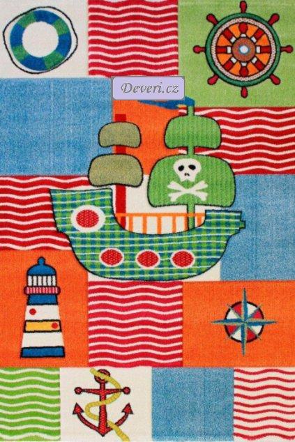 Dětský koberec pirátská loď barevný různe rozměry (1)