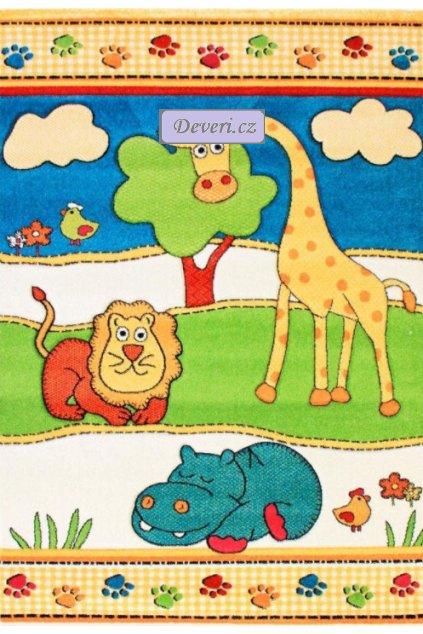 Dětský koberec zvířata barevný různé rozměry (1)