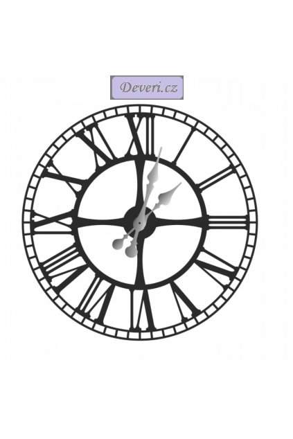 Nástěnné kovové hodiny 40cm černé (1)