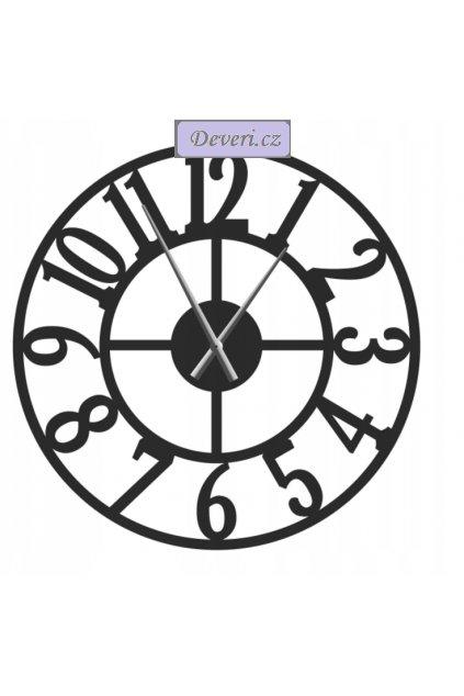 Nástěnné kovové hodiny Roma 80cm černé