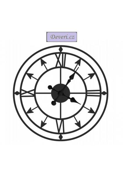 Nástěnné kovové hodiny Copernicus 60cm černé (1)