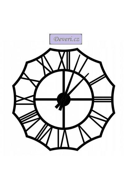 Nástěnné kovové hodiny Retro 80cm černé (1)