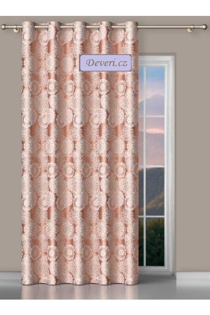 Metrážový závěs Kathie šířka 185cm růžovo vřesový