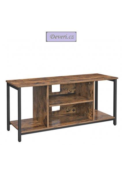Televizní konzolový stůl 110x40x50cm rustikální hnědý (1)