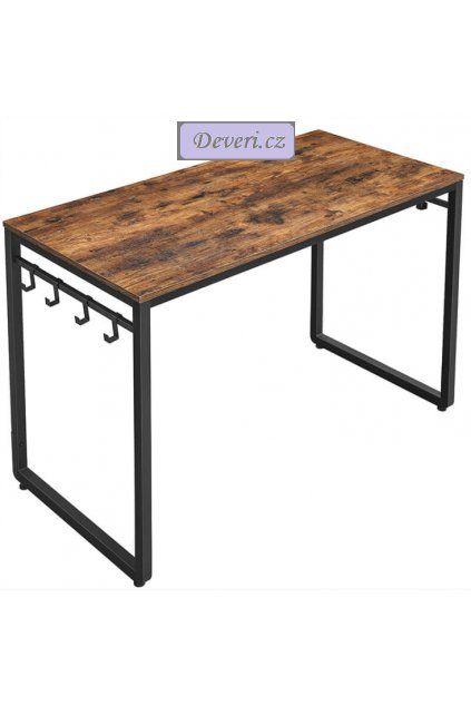Počítačový stůl 120x60x75cm rustikální hnědá (1)