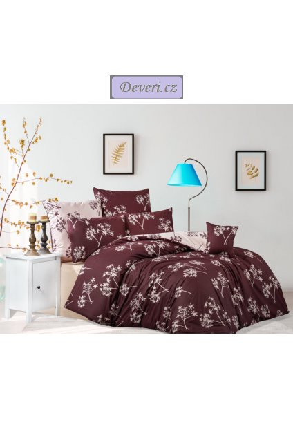 Bavlněné povlečení Otýlie tmavě fialové různé rozměry (1)