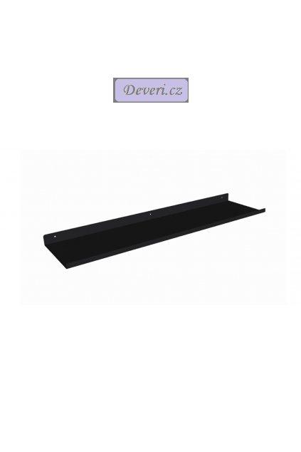 Nástěnná kovová polička do koupelny 50cm černá (1)