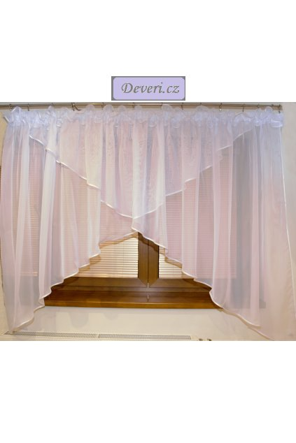 Voálová Záclona Leona bílá 400x150cm