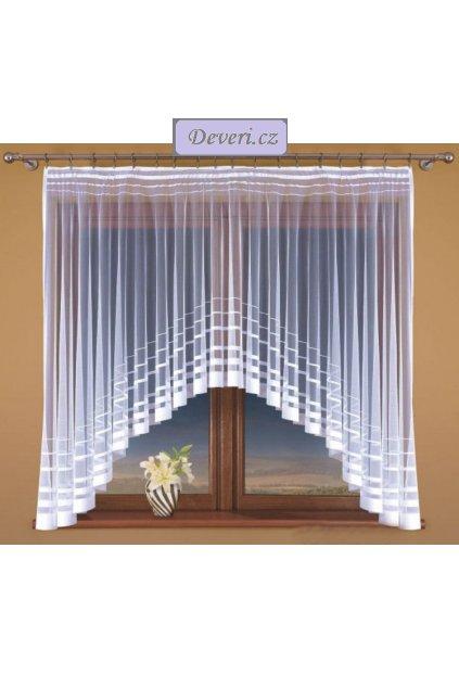 Hotová žakárová záclona Irena bílá různé rozměry