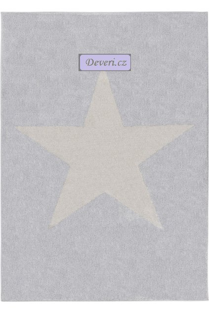Koberec kusový hvězda šedá v různé velikosti