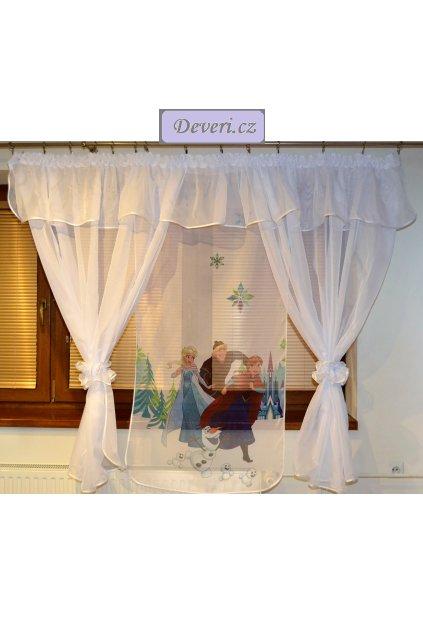 Voálová Záclona Denisa Frozen 4 bílá 400x150cm