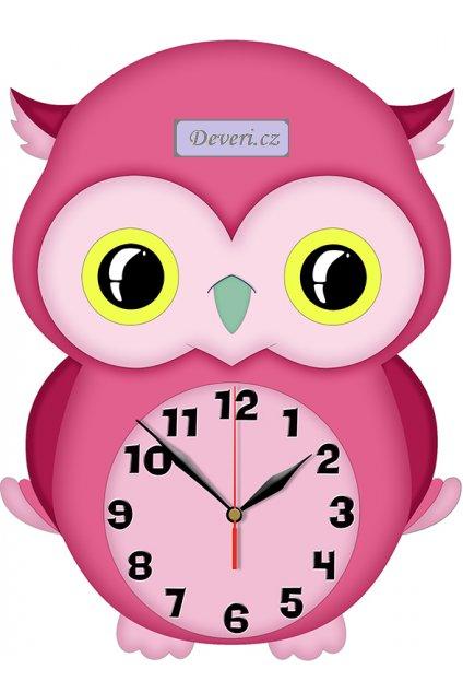 SOWA drewniany zegar ścienny MECHANIZM PŁYNĄCY