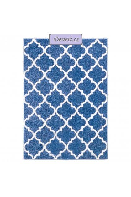 Koberec kusový marocký jetel nebesky modrý různé rozměry