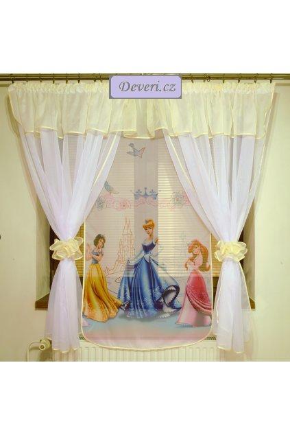 Voálová Záclona Denisa Princezny krémová 400x150cm