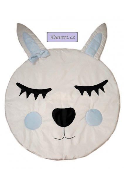 Dětský koberec králík s ušima modrý 165cm