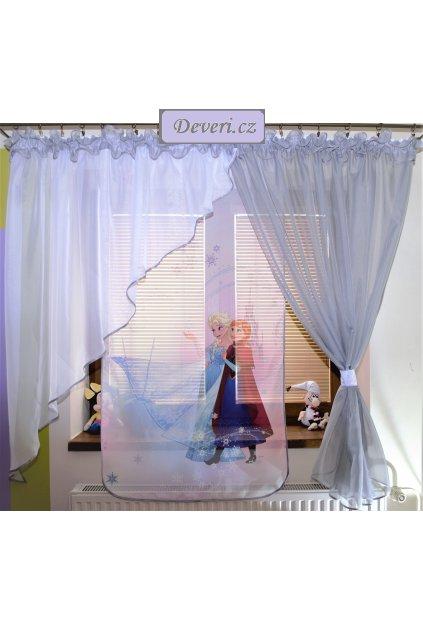 Voálová Záclona Tamara Frozen stříbrná 400x145cm