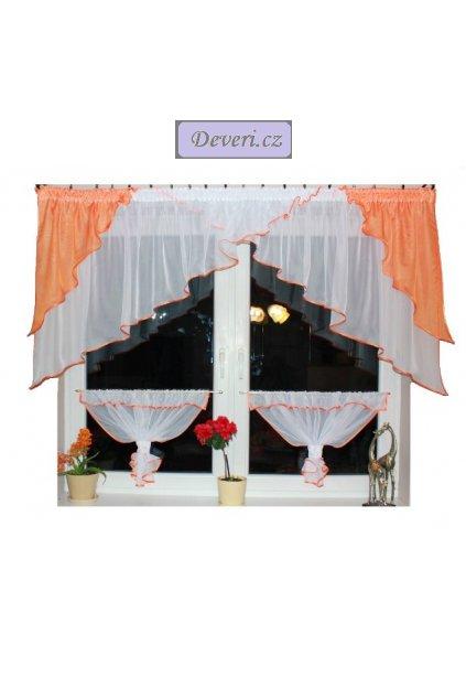 Hotová voálová záclona Lea s lemováním 300x100cm různé barvy