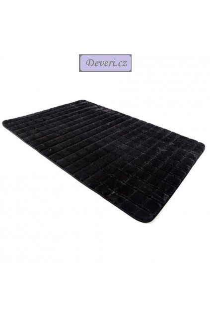 Plyšový koberec černý brick black