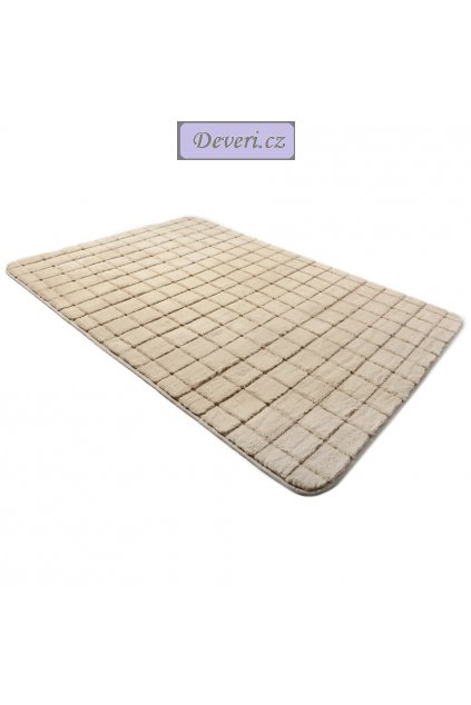 Plyšový kusový koberec 3D cappucino Brick Black