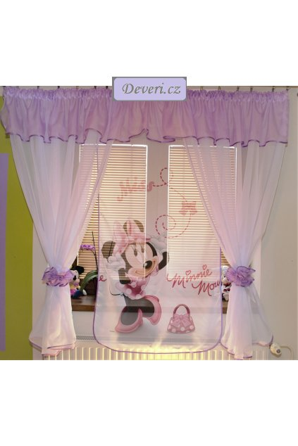 Voálová Záclona Denisa Minnie fialová 400x150cm