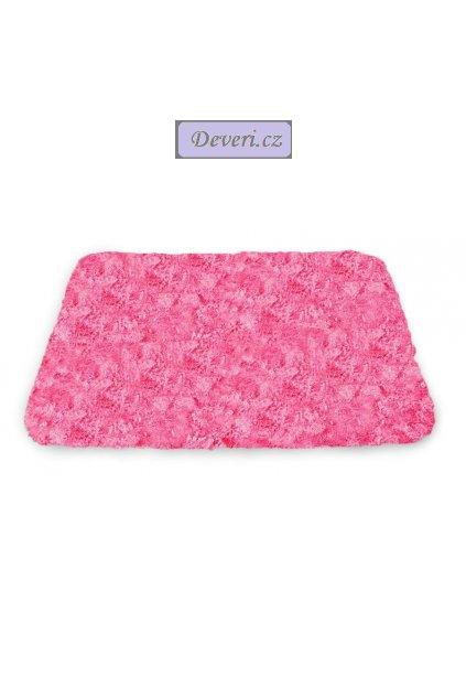 Koupelnový kusový plyšový koberec / do koupelny tmavě růžová pink 50x70cm