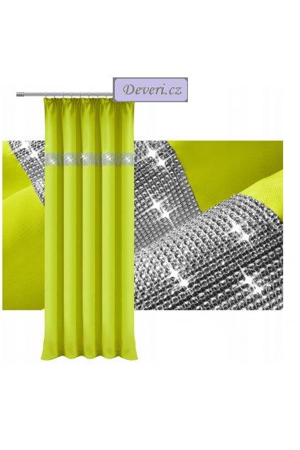 Hotový závěs na řasící pásce 140x250cm se zirkony různé barvy