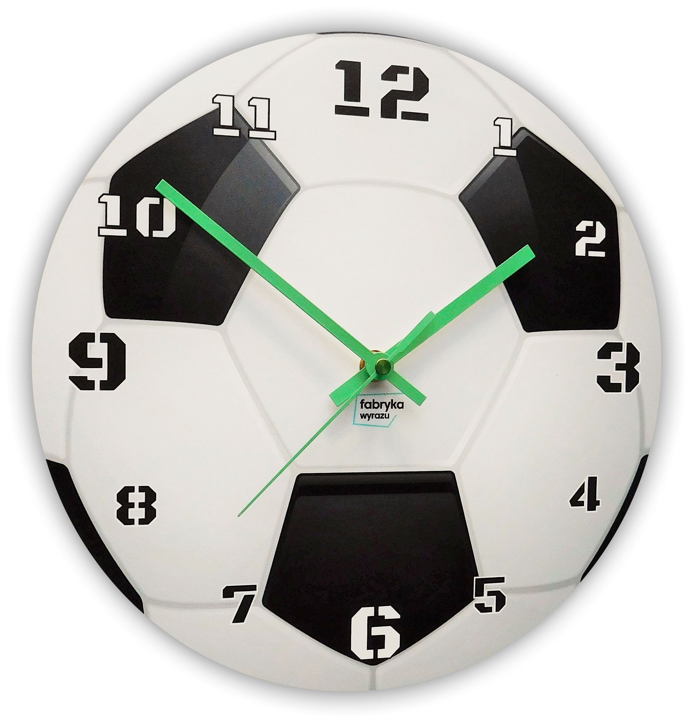 Nástěnné hodiny fotbalový míč 30cm