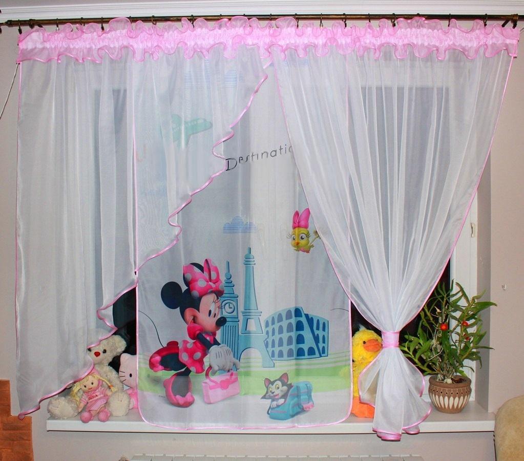Voálová Záclona Klaudie Minnie France světle růžová 400x145cm