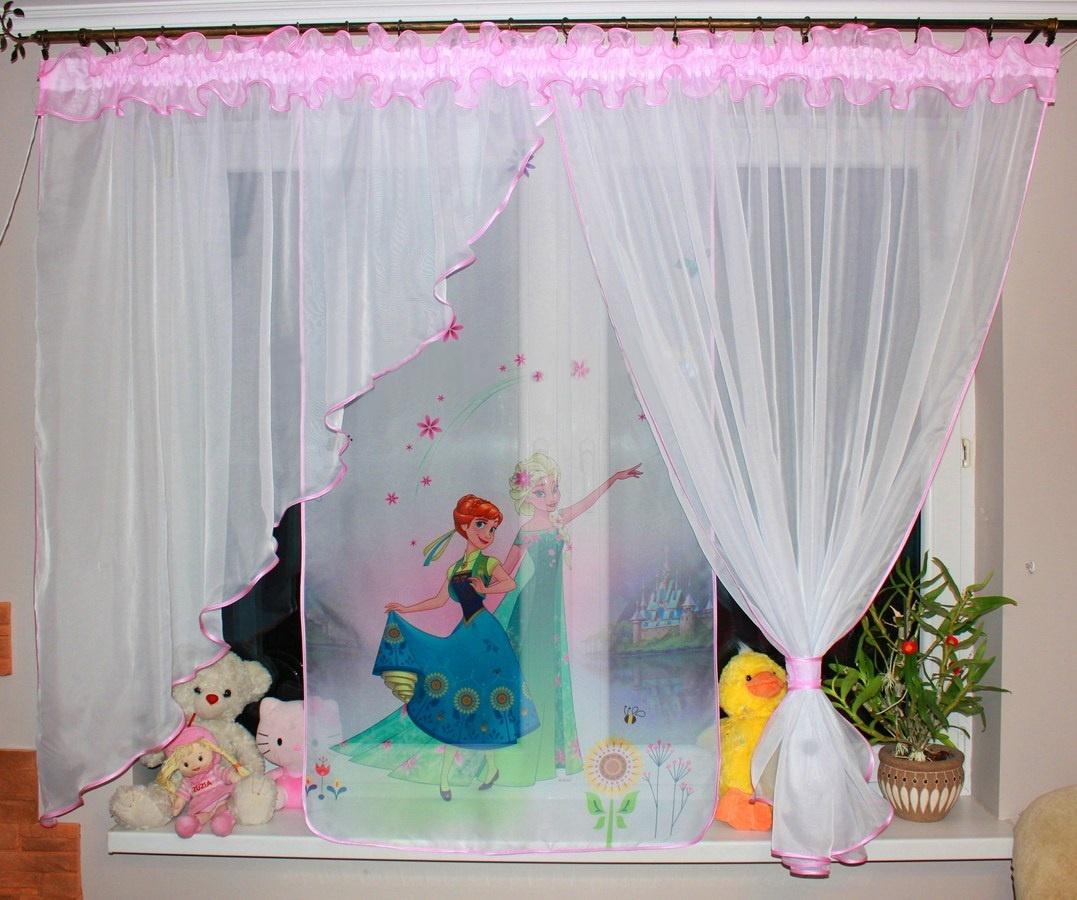 Voálová Záclona Klaudie Anna a Elza, květiny světle růžová 400x145cm