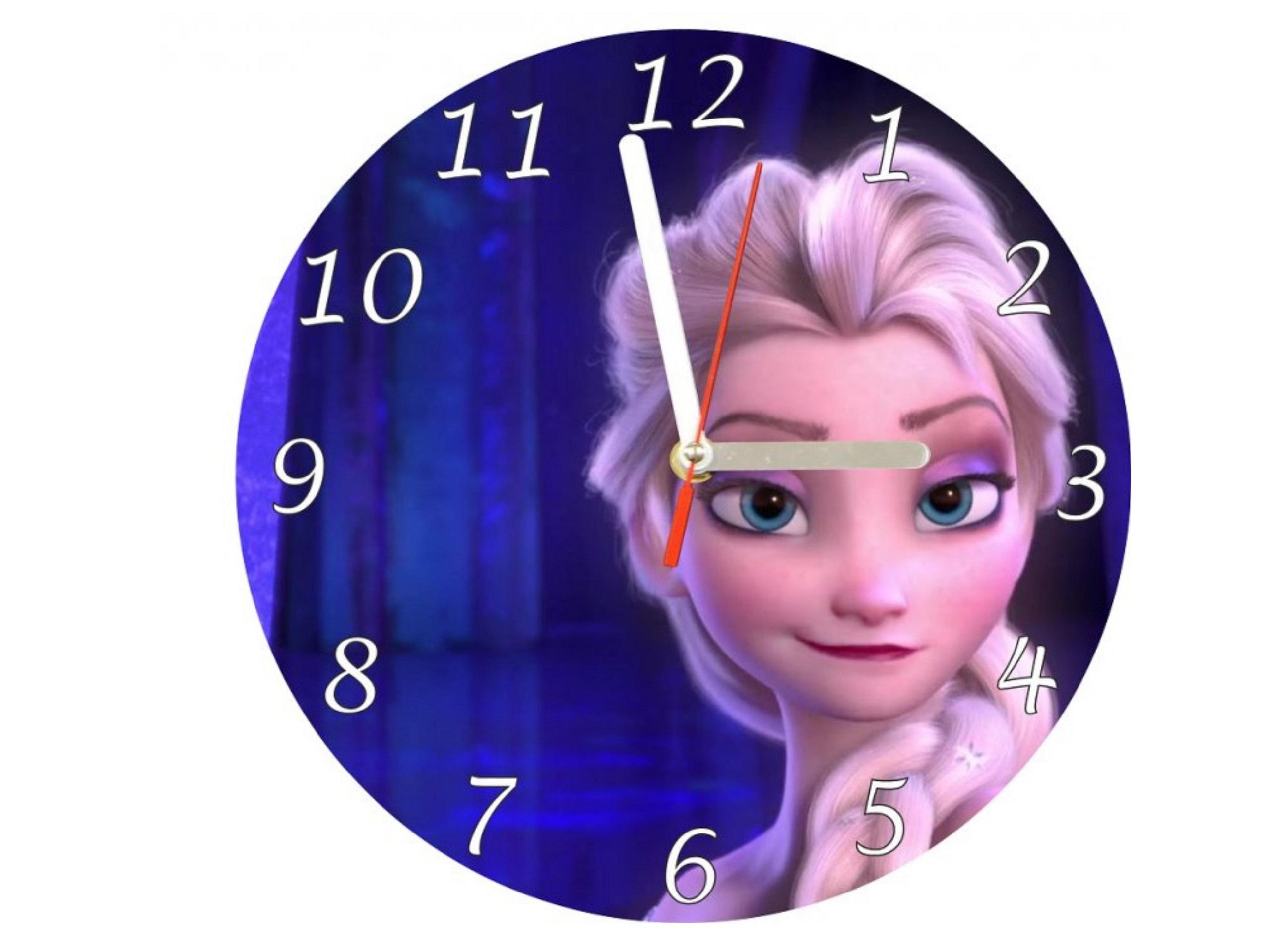 Nástěnné hodiny Frozen Anna a Elza 30cm různé vzory