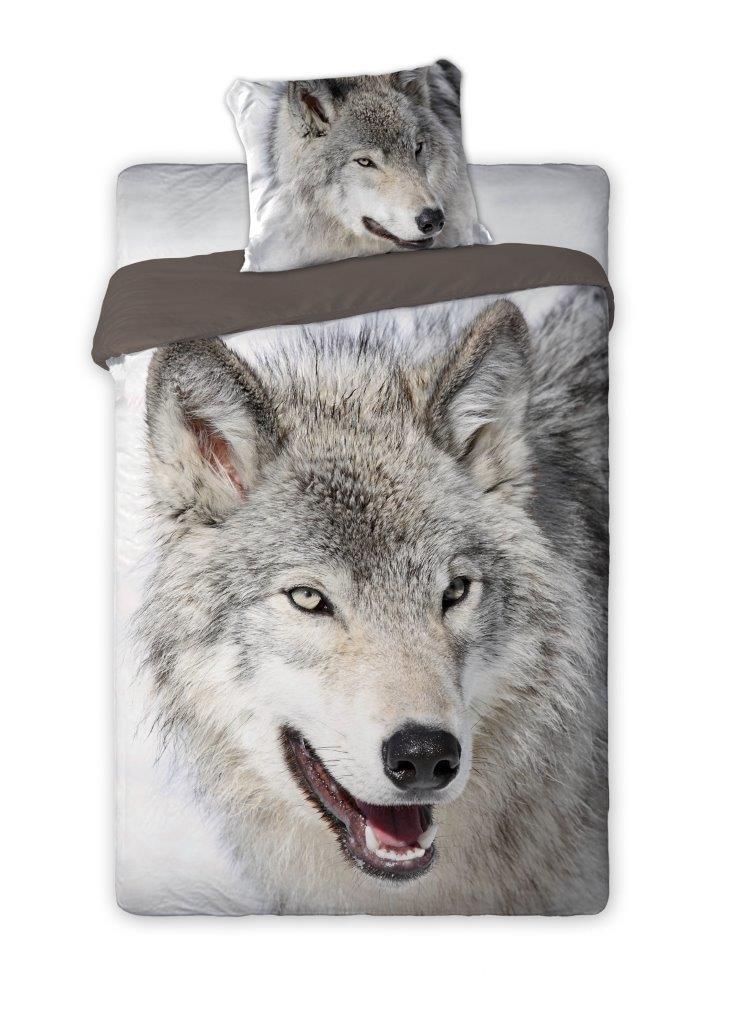 Bavlněné povlečení 140x200cm / 70x80cm Vlk