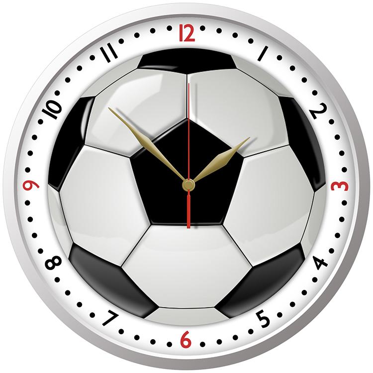 Nástěnné dětské hodiny fotbalový míč dřevěné beruška 29cm