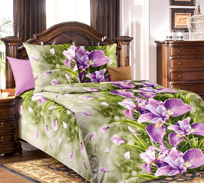 Bavlněné povlečení orchidejová louka Rozměr: 140x200cm+70x90cm
