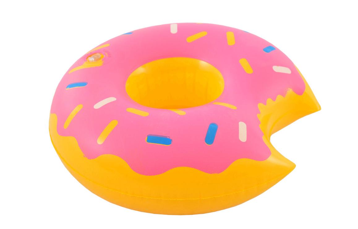 Nafukovací držák na pití Donut růžový
