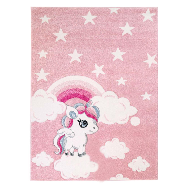 Dětský kusový koberec pastel koník Pony na mráčku růžový Rozměr: 160x220cm