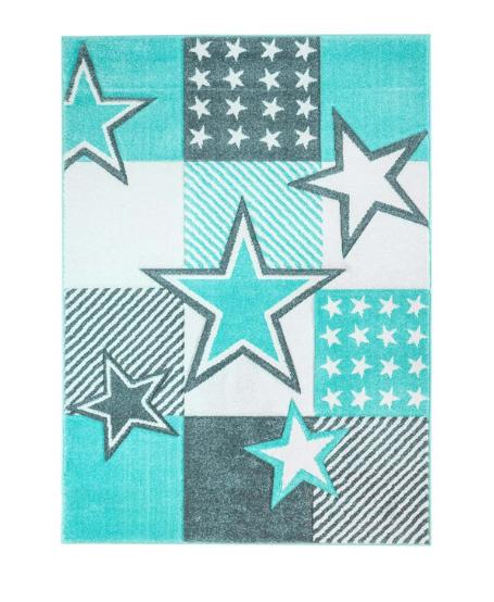 Dětský kusový koberec pastel kostičky hvězdy hvězdičky Rozměr: 140x200cm