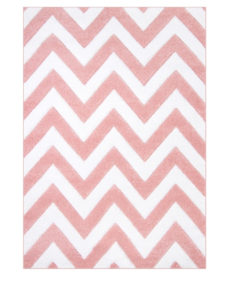 Kusový koberec růžový zig zag Rozměr: 140x200cm