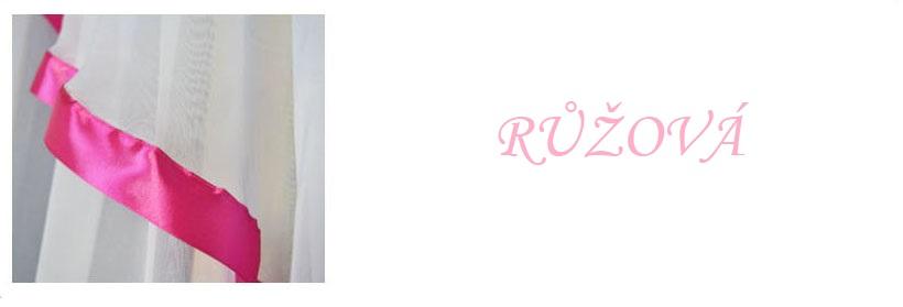 Hotová voálová jednoduchá záclona Carol 150x400cm různé barvy Barva: růžová