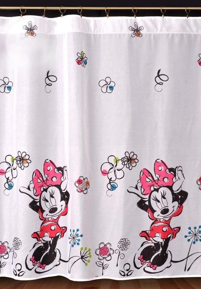 Dětský voál / záclona Disney Minnie Mouse květiny v.155cm