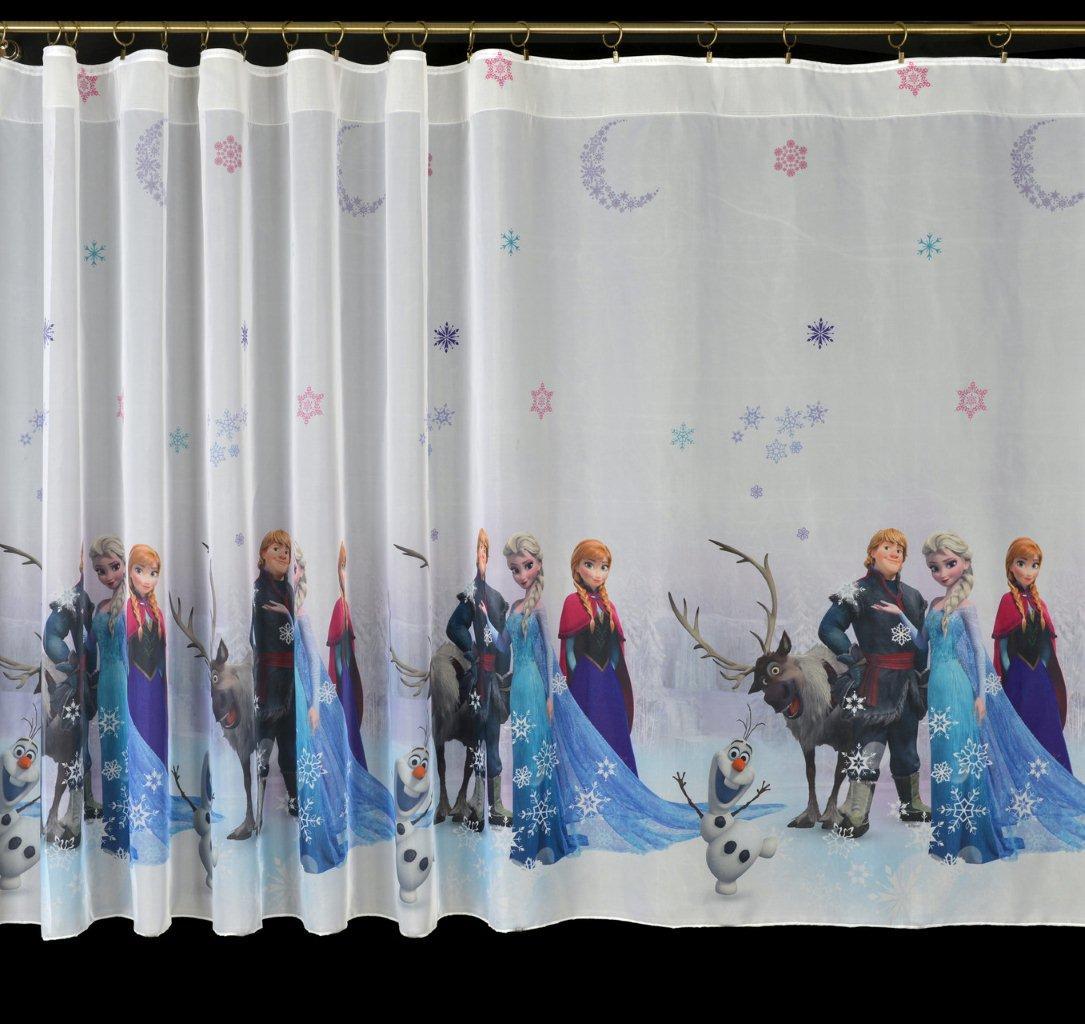 Dětský voál / záclona Disney Frozen Elza, Anna a přátelé v.155cm a 160cm Materiál: 155cm