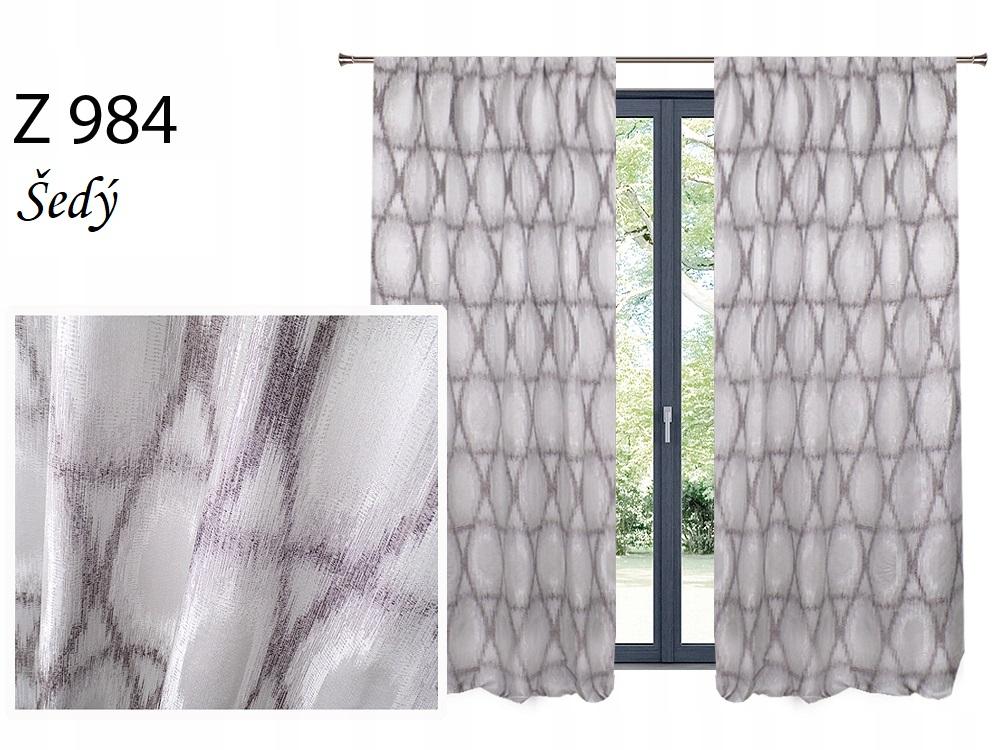 Zatemňovací závěs MAX 140x250cm na řasící pásce nebo kroužcích různé vzory a barvy Barva: šedý Z 984