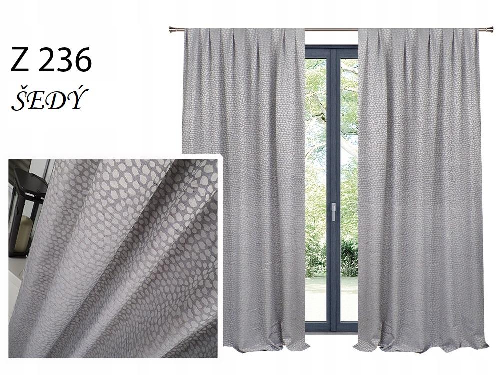 Zatemňovací závěs MAX 140x250cm na řasící pásce nebo kroužcích různé vzory a barvy Barva: šedý Z 236
