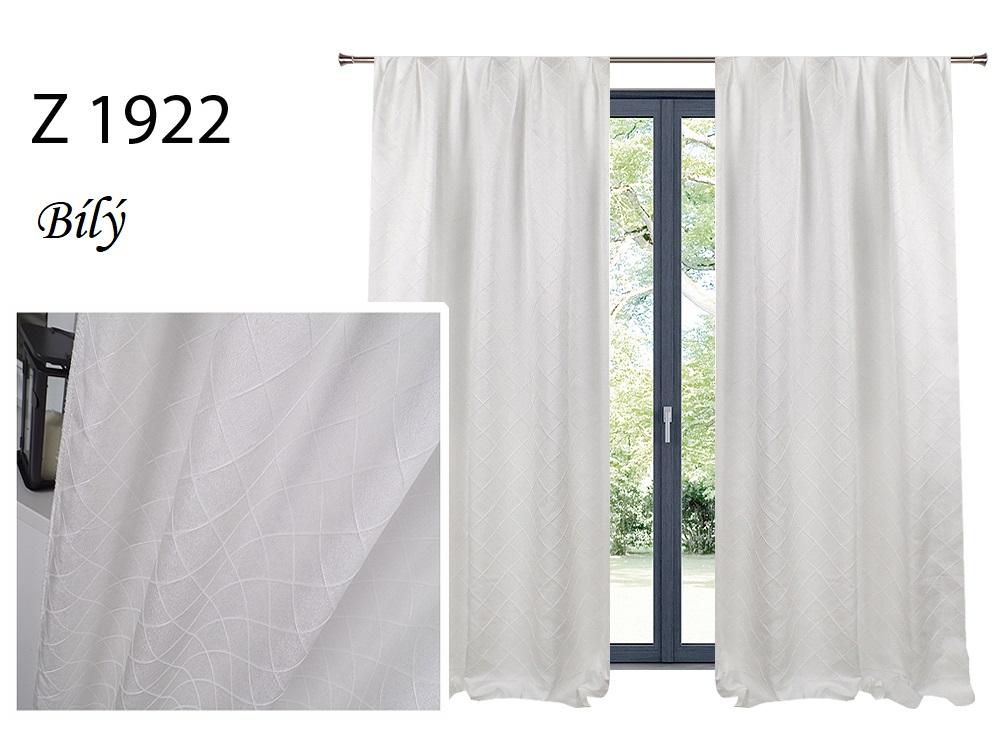 Zatemňovací závěs MAX 140x250cm na řasící pásce nebo kroužcích různé vzory a barvy Barva: Bílá