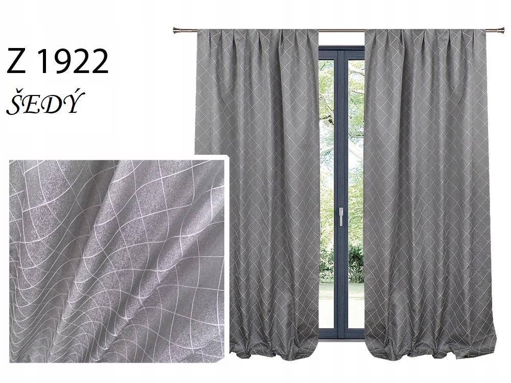 Zatemňovací závěs MAX 140x250cm na řasící pásce nebo kroužcích různé vzory a barvy Barva: šedý Z 1922
