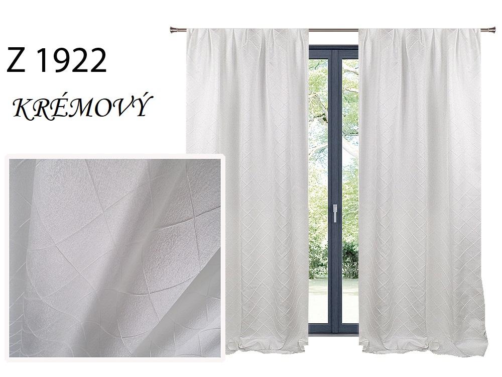 Zatemňovací závěs MAX 140x250cm na řasící pásce nebo kroužcích různé vzory a barvy Barva: krémový Z 1922