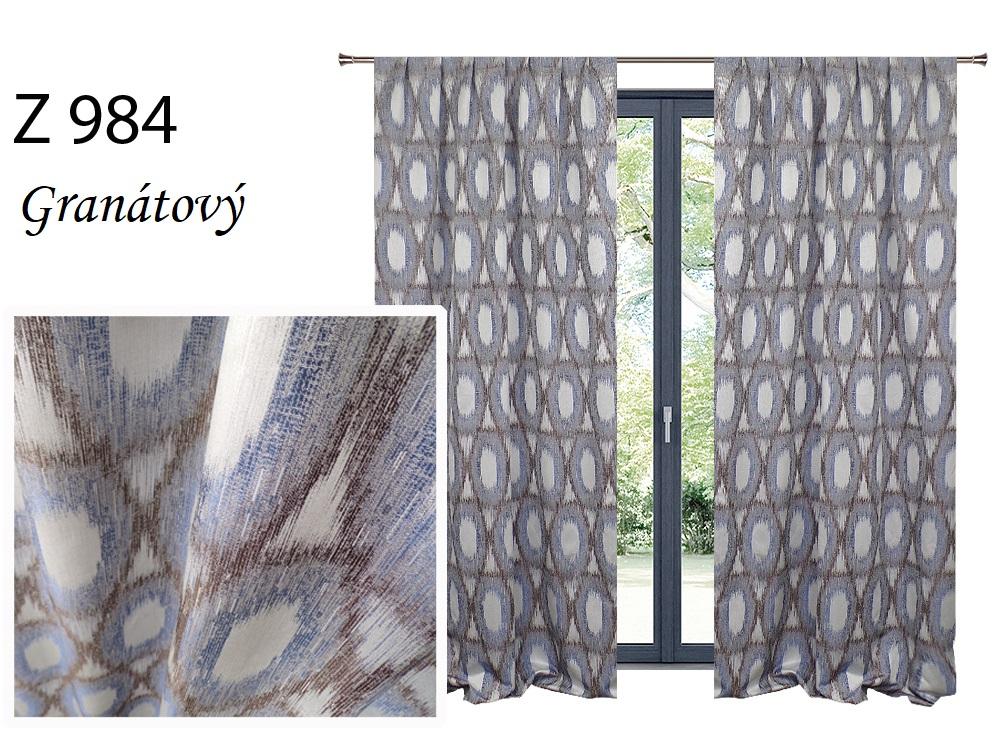 Zatemňovací závěs MAX 140x250cm na řasící pásce nebo kroužcích různé vzory a barvy Barva: Granátový