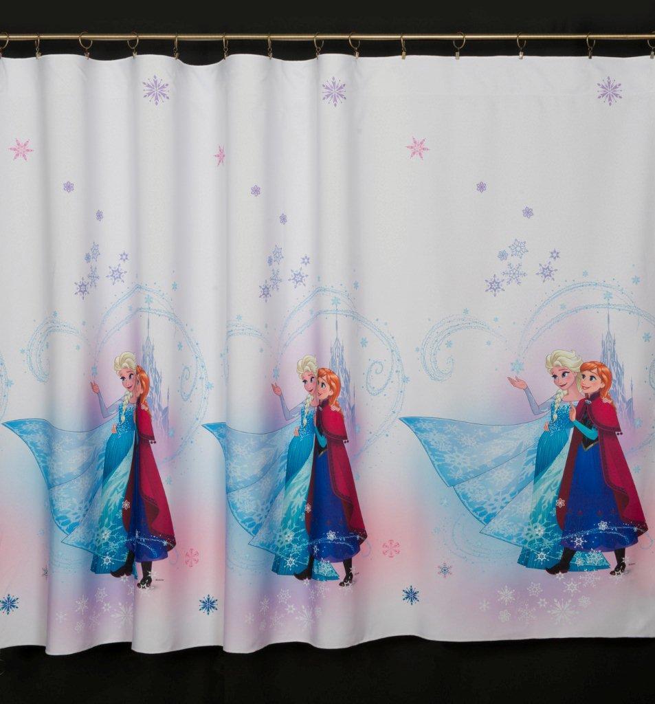 Dětský voál / záclona Disney Frozen Elza a Anna v.160cm