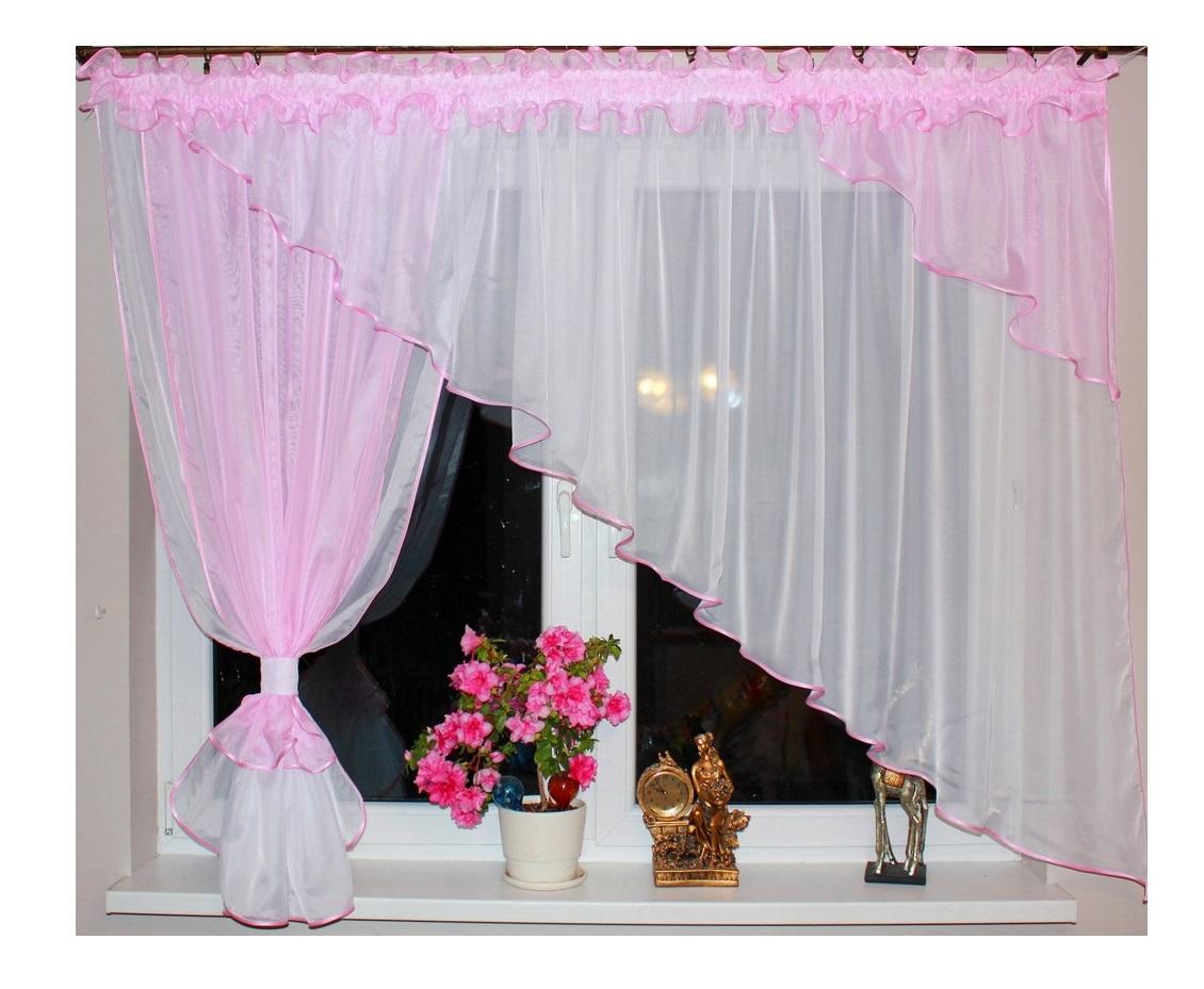 Voálová Záclona Olívie růžová 300x150cm
