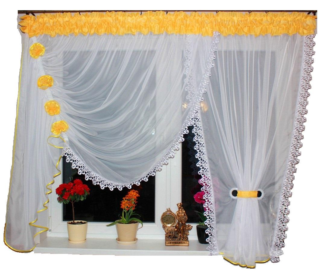Hotová voálová záclona Alexandra zdobená krajkou 500x150cm Levá / pravá různé barvy Barva: růžová